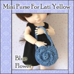 Blue Flower Mini Purse